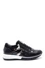 5638336851 Kadın Fermuar Detaylı Deri Sneaker