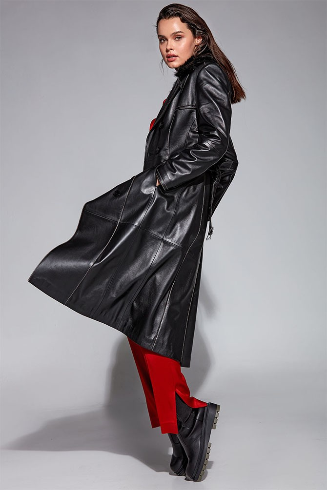 Siyah Modena Kadın Deri Ceket 5638348153