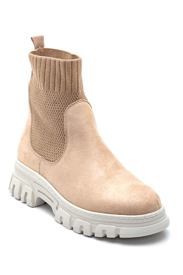 Bej Kadın Çorap Süet Bot 5638260162