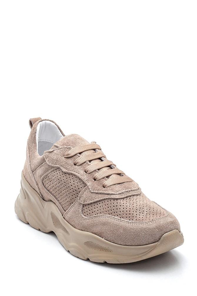 5638281321 Kadın Deri Süet Sneaker