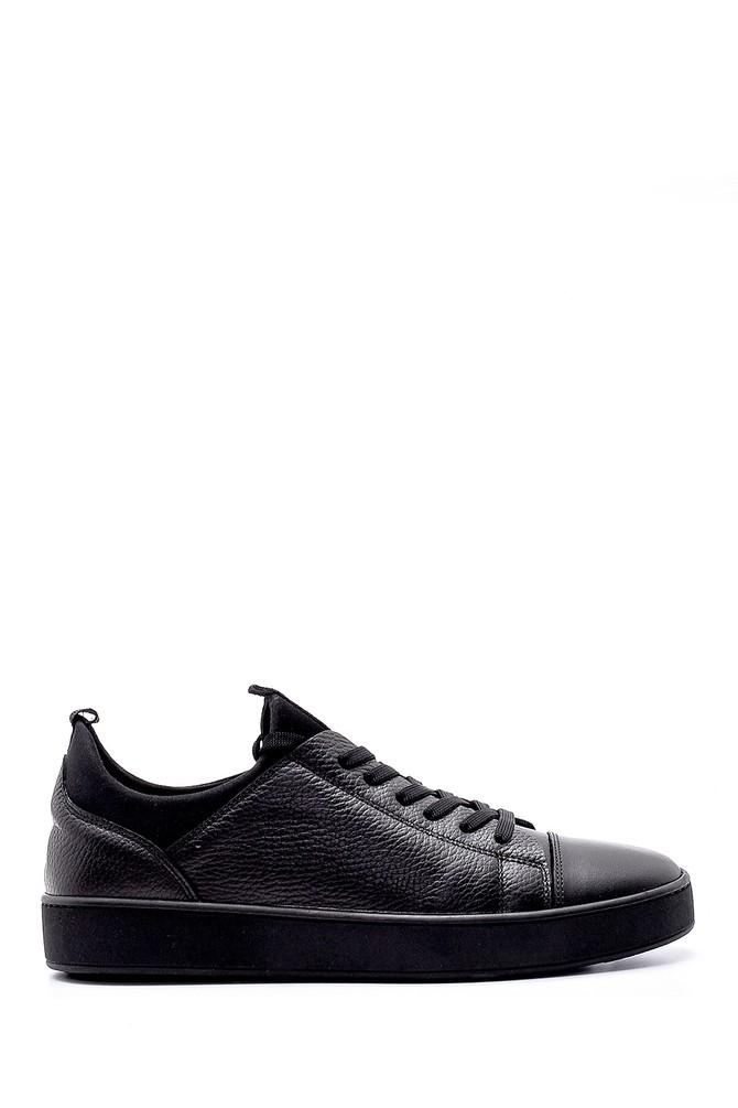 Siyah Erkek Deri Sneaker 5638320431