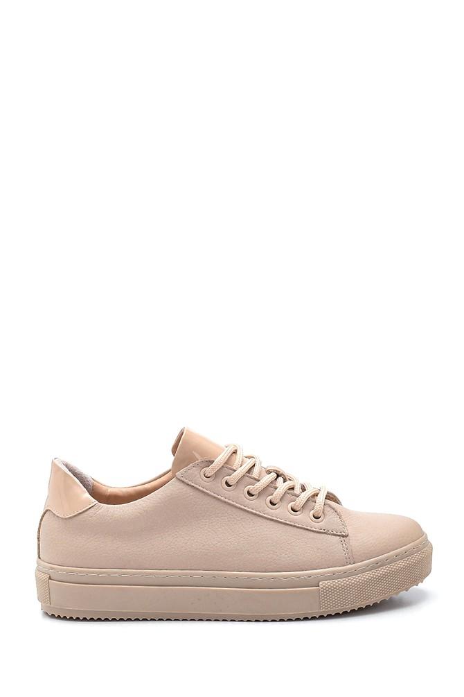 Bej Kadın Deri Sneaker 5638348345