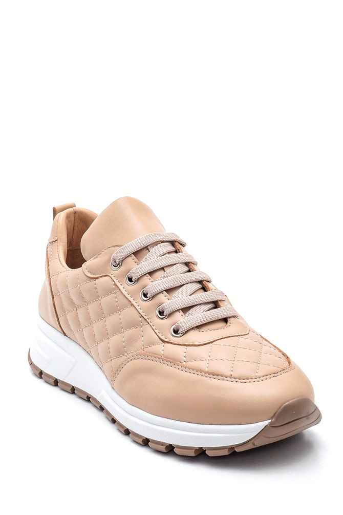 5638344705 Kadın Deri Kapitone Sneaker