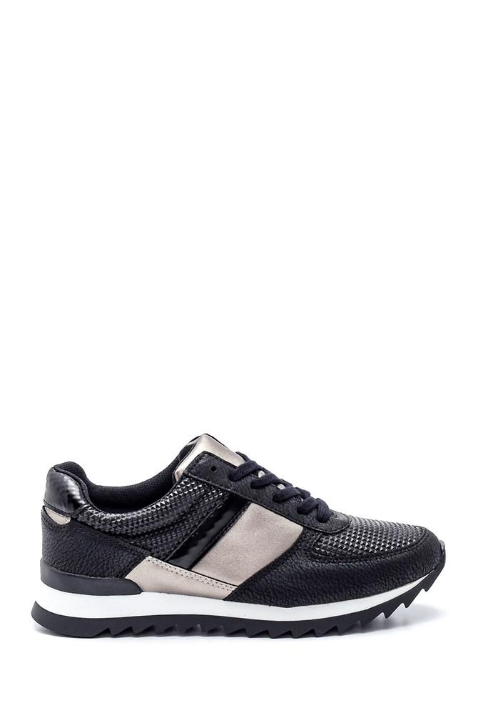 Siyah Kadın Desenli Sneaker 5638330376