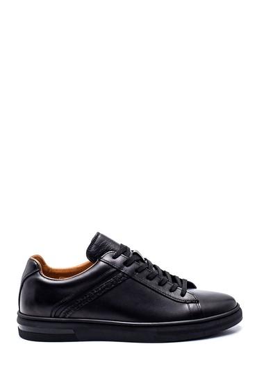 Siyah Erkek Deri Sneaker 5638317295