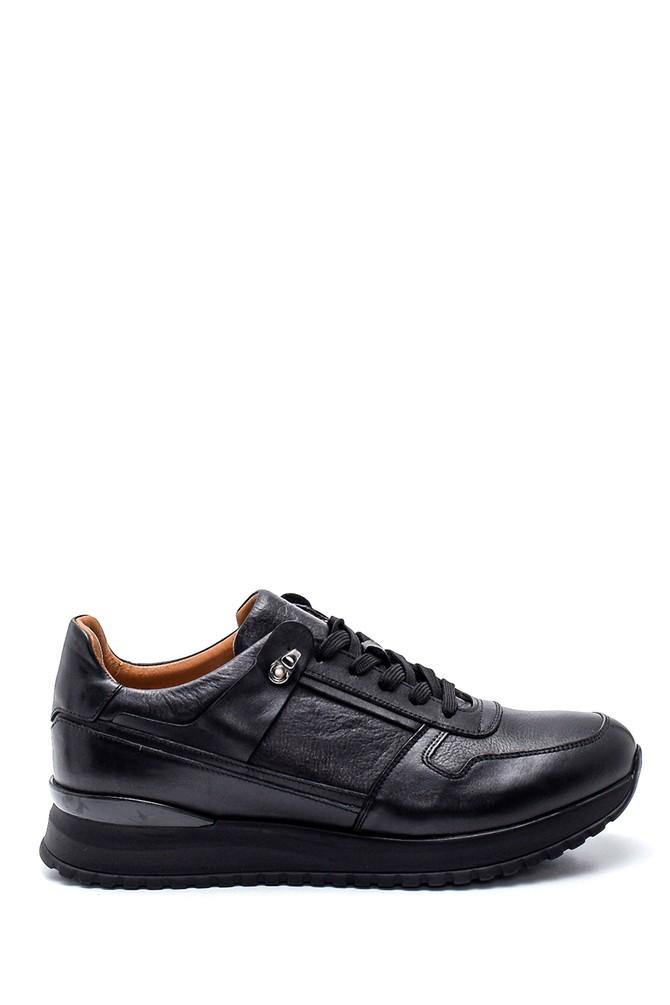 Siyah Erkek Deri Sneaker 5638317613