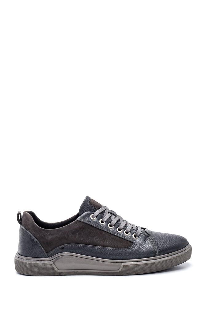 Gri Erkek Deri Sneaker 5638318796