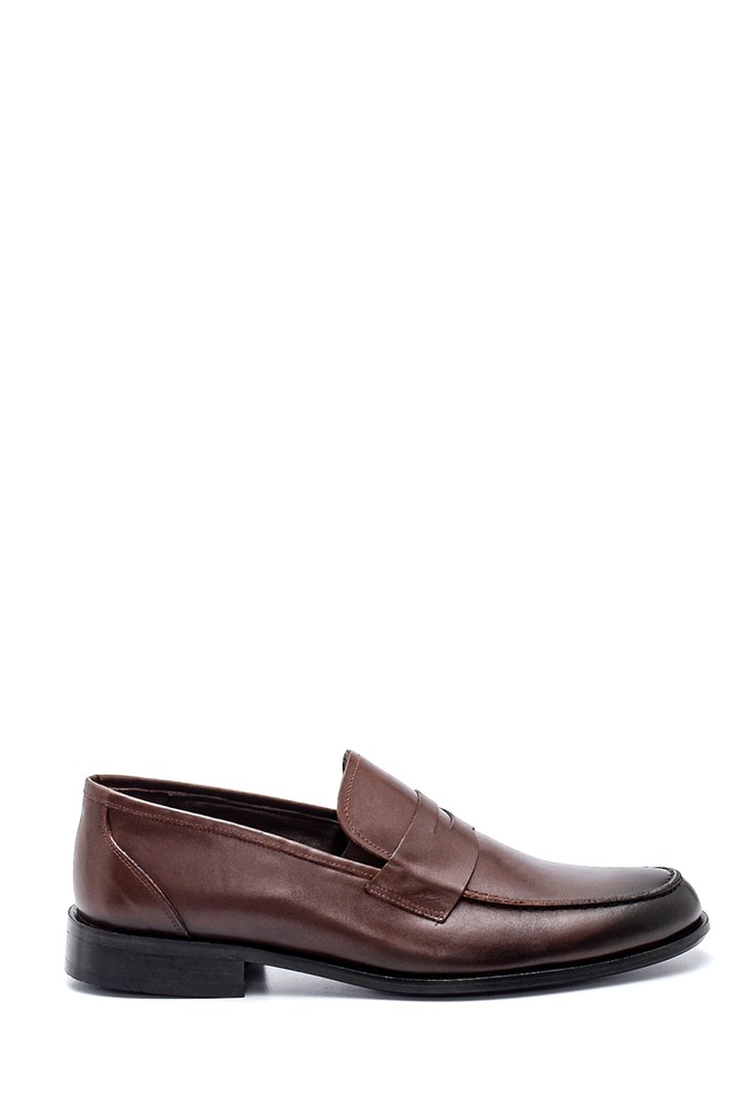 Kahverengi Erkek Deri Klasik Ayakkabı 5638336364