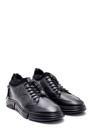 5638336774 Erkek Fermuar Detaylı Deri Sneaker