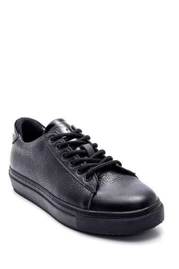 Siyah Kadın Deri Sneaker 5638344781