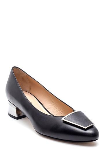 Siyah Kadın Tokalı Deri Ayakkabı 5638297861