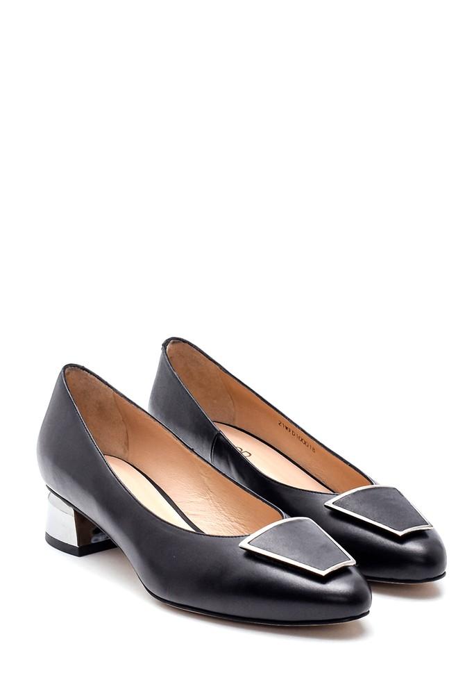 5638297861 Kadın Tokalı Deri Ayakkabı