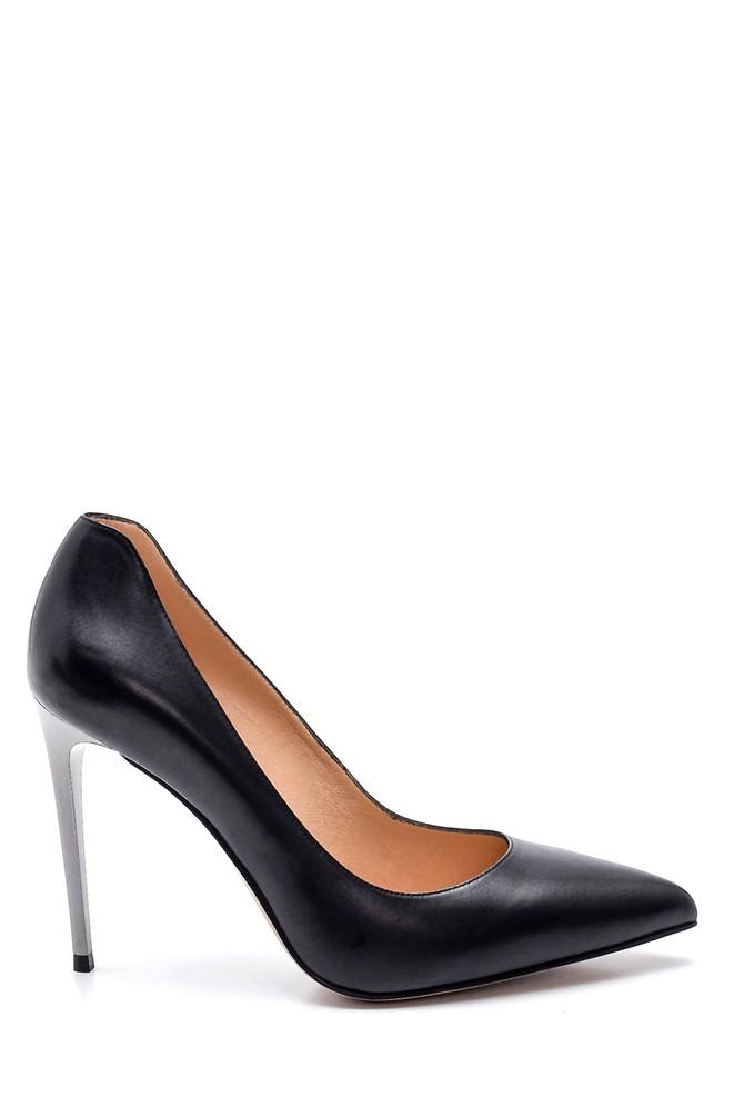 Siyah Kadın Klasik Deri Stiletto 5638297871