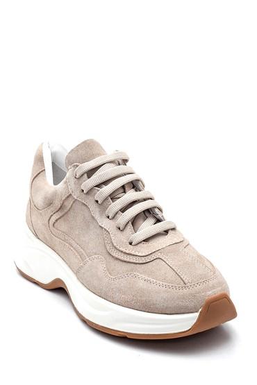 Bej Kadın Süet Deri  Sneaker 5638312337