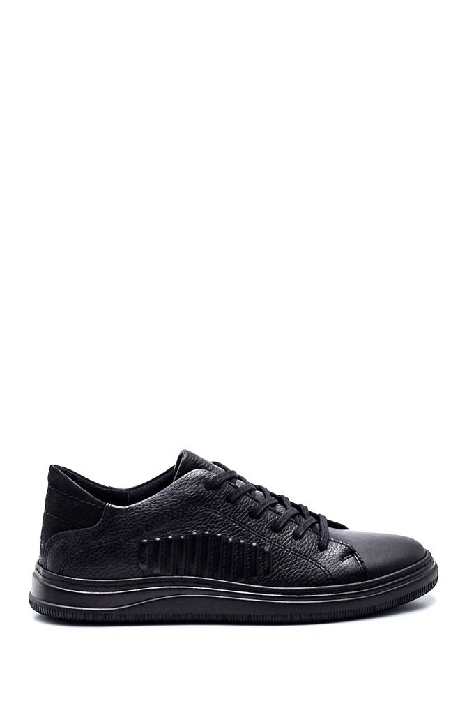 Siyah Erkek Deri Sneaker 5638318877
