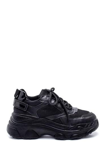 Siyah Kadın Yüksek Taban Sneaker 5638343135