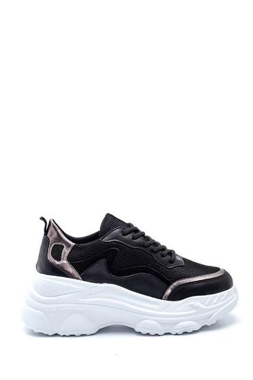 Siyah Kadın Yüksek Taban Sneaker 5638343670