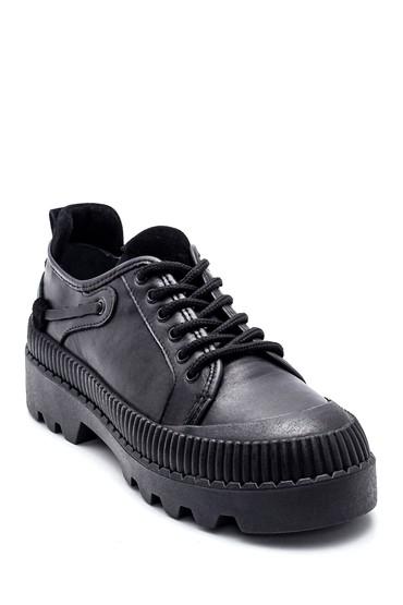 Siyah Kadın Casual Deri Ayakkabı 5638337086