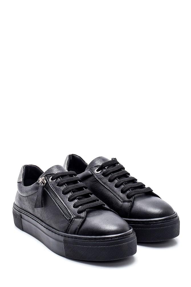 5638344637 Kadın Deri Fermuarlı Sneaker