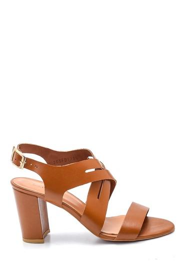 Taba Kadın Topuklu Deri Sandalet 5638161956