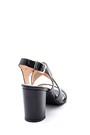 5638161957 Kadın Topuklu Deri Sandalet