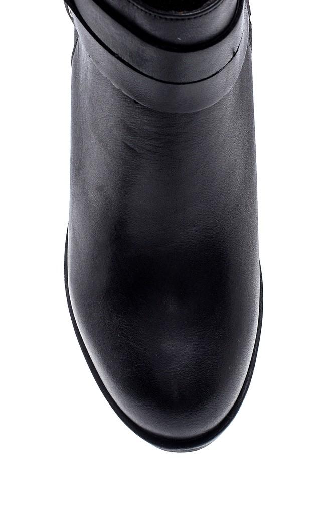 5638260603 Kadın Deri Fermuarlı Topuklu Bot