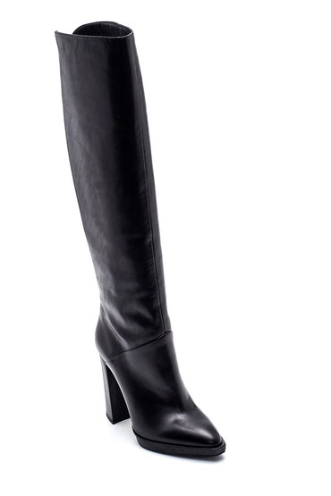 Siyah Kadın Deri Topuklu Çizme 5638297971