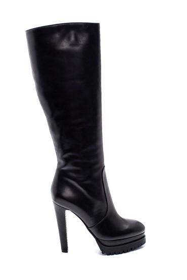 Siyah Kadın Deri Platform Topuklu Çizme 5638297981