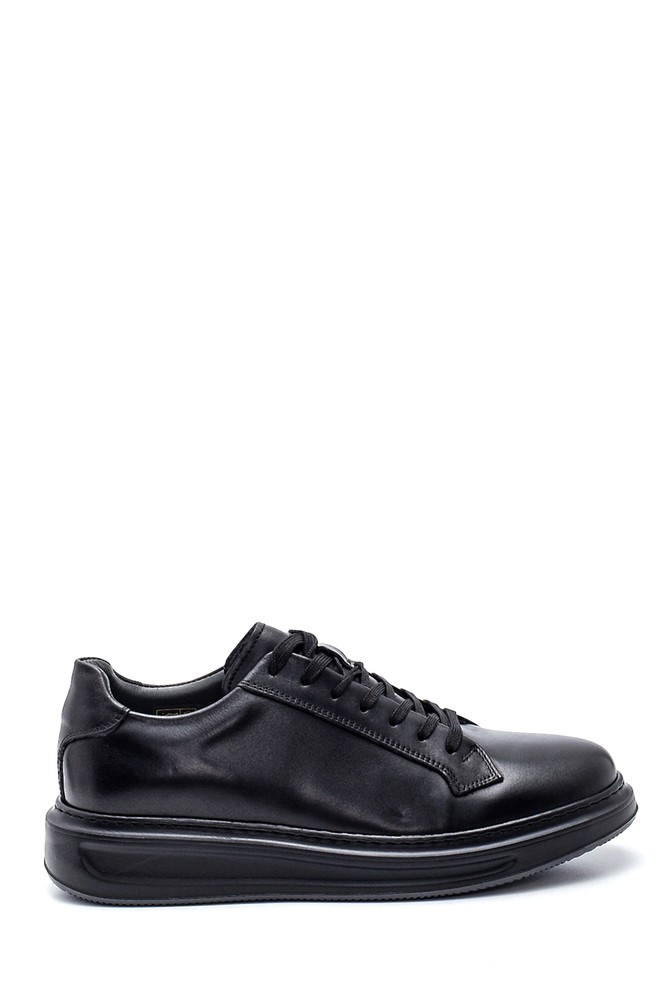 Siyah Erkek Deri Sneaker 5638311761