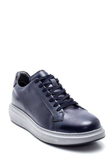 Lacivert Erkek Deri Sneaker 5638311762