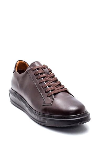 Kahverengi Erkek Deri Sneaker 5638311763