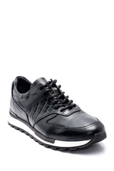 Yeşil Erkek Kroko Detaylı Deri Sneaker 5638311847