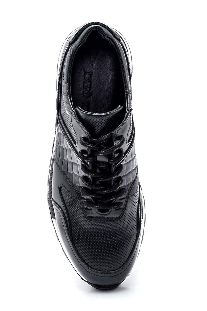 5638311847 Erkek Deri Kroko Detaylı Sneaker