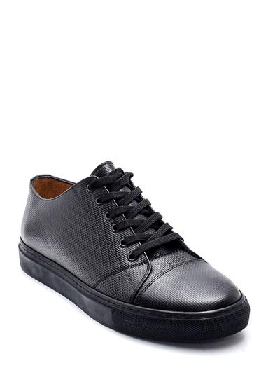 Siyah Erkek Deri Sneaker 5638311918