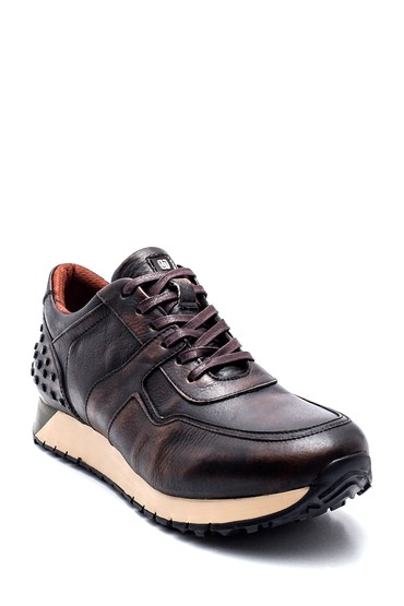 Kahverengi Erkek Deri Sneaker 5638312076