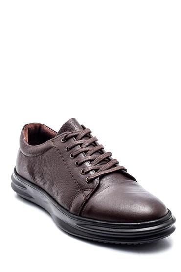 Kahverengi Erkek Deri Sneaker 5638312164