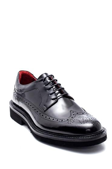 Siyah Erkek Deri Casual Ayakkabı 5638314576