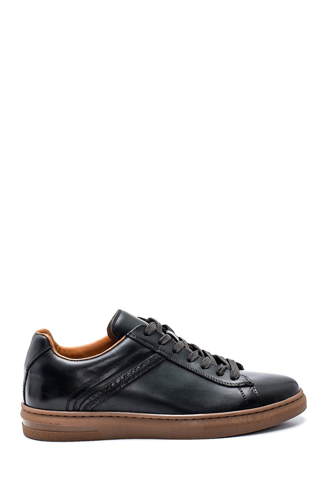 Yeşil Erkek Deri Sneaker 5638317297