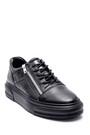 5638317587 Erkek Deri Fermuar Detaylı Sneaker