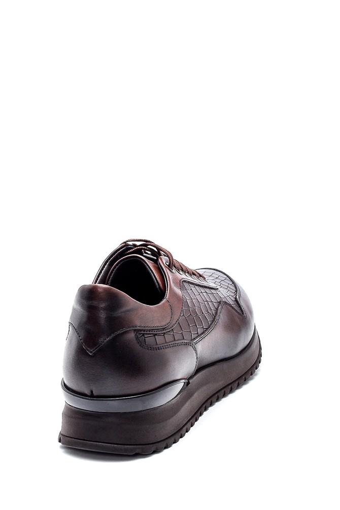 5638317627 Erkek Kroko Deri Sneaker
