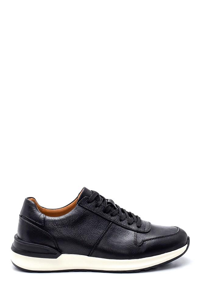 Siyah Erkek Deri Sneaker 5638317731