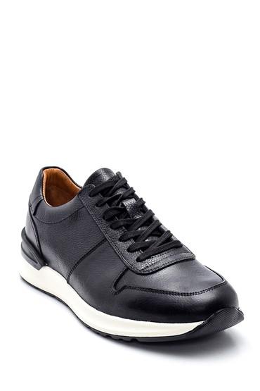 Siyah Erkek Deri Sneaker 5638317711