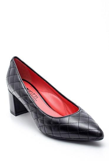 Siyah Kadın Deri Gritti For Derimod Topuklu Ayakkabı 5638329922