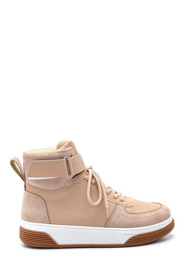 Bej Kadın Boğazlı Sneaker 5638343173