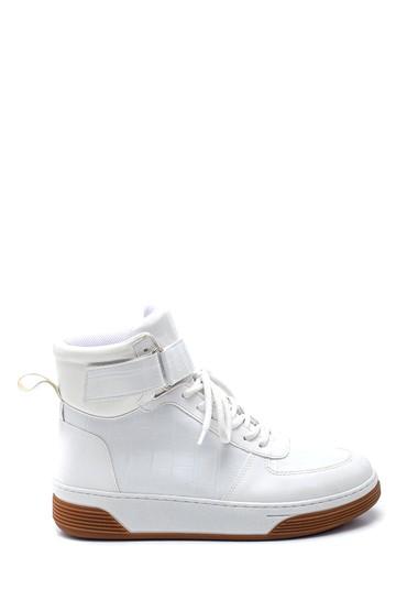 Beyaz Kadın Boğazlı Sneaker 5638343171