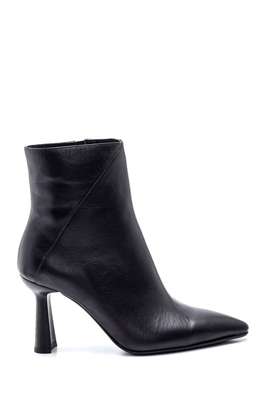 Siyah Kadın Deri Topuklu Bot 5638330724