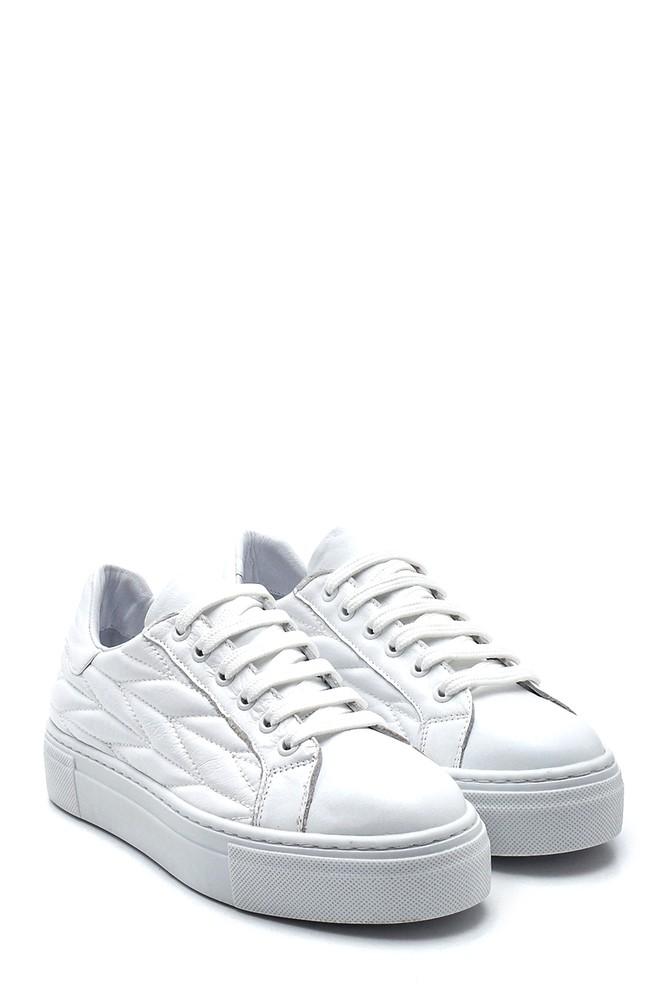 5638344656 Kadın Deri Desenli Sneaker