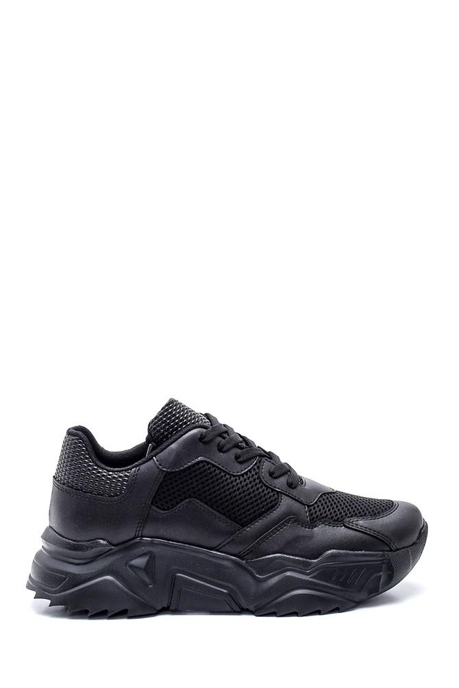 Siyah Kadın Yüksek Taban Sneaker 5638294425