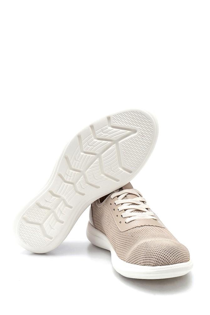 5638245968 Erkek Deri Detaylı Çorap Sneaker