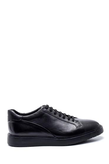 Siyah Erkek Deri Sneaker 5638318265
